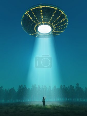Photo for Flying saucer arrived - Royalty Free Image