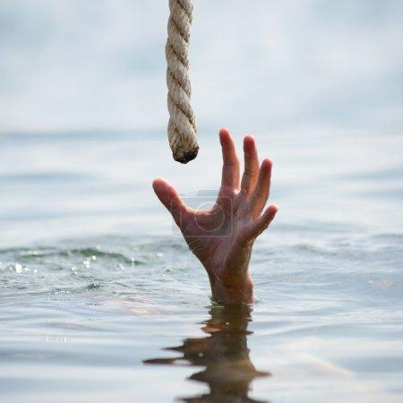 Photo for Saving a drowning man - Royalty Free Image