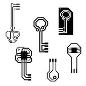 Vector circuit board keys