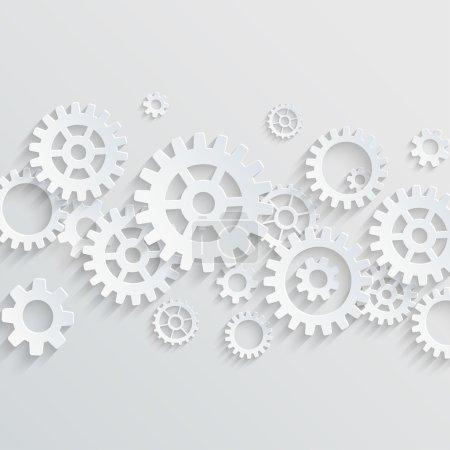 Vector gears cogs abstract backgroud