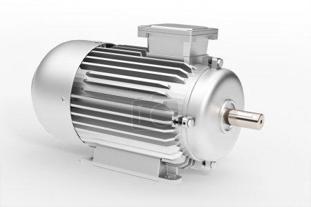 Photo pour Ensemble de t moteur électrique industriel ower whihte - image libre de droit