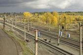 Railway station.