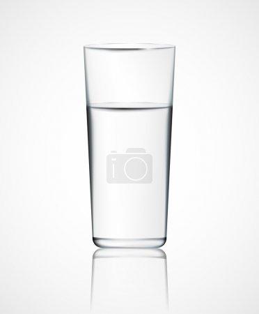 Illustration pour Verre d'eau réaliste. Eps 10 - image libre de droit