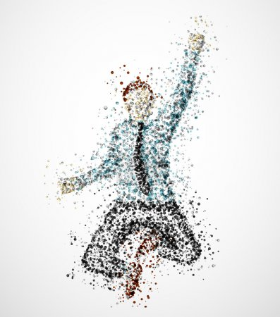 Illustration for Abstract businessman from circles. Eps 10 - Royalty Free Image
