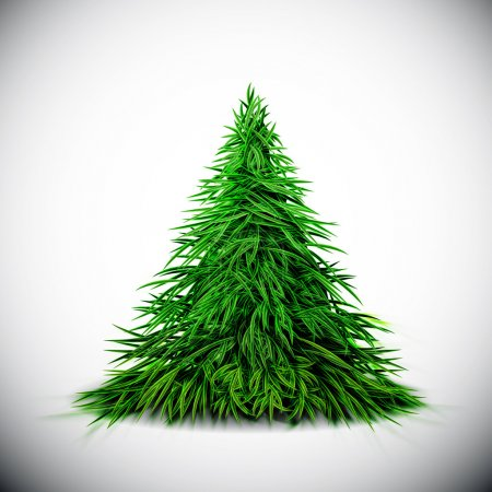 Illustration for Isolated Christmas tree. Eps 10 - Royalty Free Image
