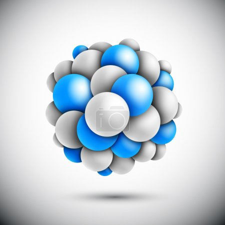 Illustration for Sphere in form of the molecule. Eps 10 - Royalty Free Image