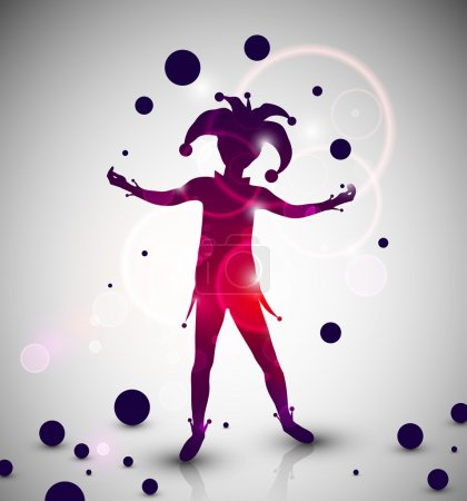 Illustration for Abstract background with jester juggles. Eps 10 - Royalty Free Image
