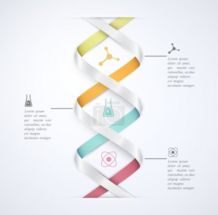 Illustration for DNA banner, science infographics. Eps 10 - Royalty Free Image