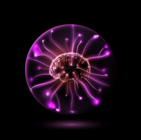 Illustration for Brain in sphere. Eps 10 - Royalty Free Image
