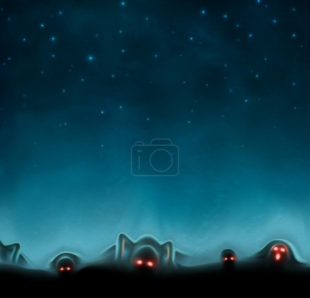 Illustration for Terrible mystical background - Royalty Free Image