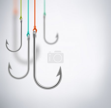 Hooks, concept background