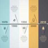 Timeline infographic background eps 10