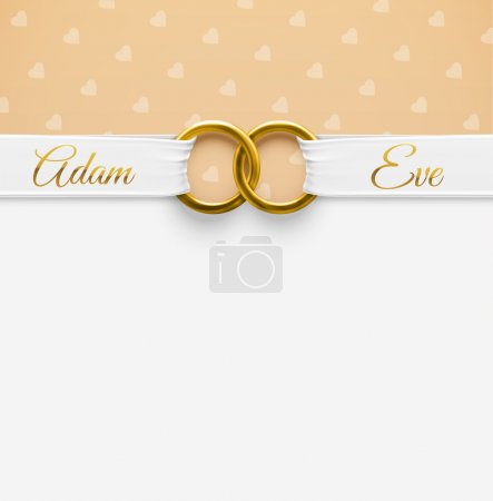 Illustration for Wedding Background with rings, eps 10 - Royalty Free Image