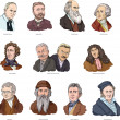 Vector illustration of famous world scientists....