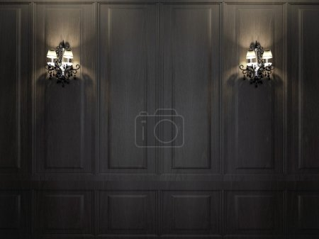 Photo for Sconces on the dark wall - Royalty Free Image
