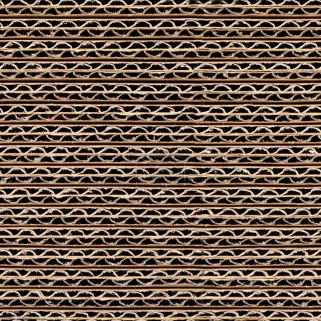 Photo for Repeating corrugated cardboard background texture. This picture is a tileable wallpaper that repeats left, right, up and down - Royalty Free Image