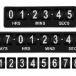 Mechanical countdown timer. Days, hours, minutes, ...
