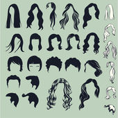 hair silhouettes woman hairstyle