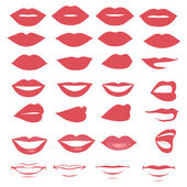 Vector lips and mouth  silhouette