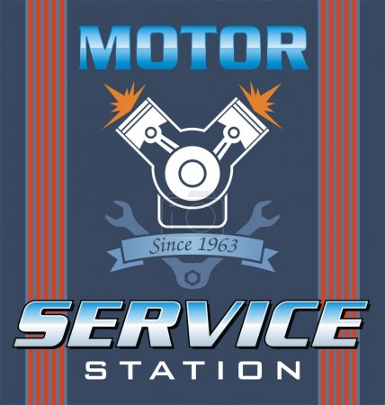 Illustration for Engine service vector - Royalty Free Image