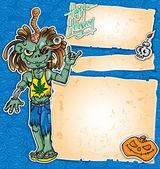 zombie rock cartoon background