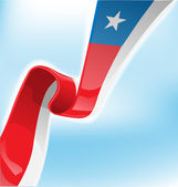 Chilean ribbon flag on background