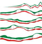 Italian flag set isolated