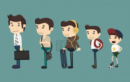 Illustration for Evolution of man from child , eps10 vector format - Royalty Free Image