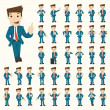 Set of businessman characters poses , eps10 vector...