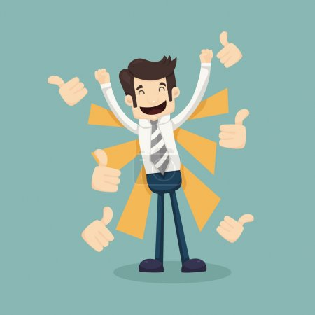 Illustration for Businessman like , thumbs up  , eps10 vector format - Royalty Free Image