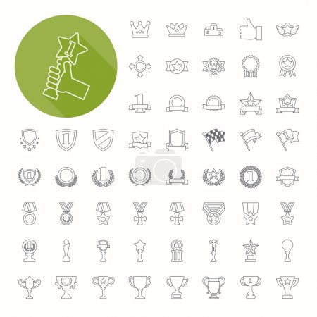 Prizes & Awards icons , thin icon design