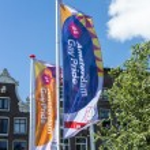 Постер, плакат: Gay Pride Flags Amsterdam August 2013