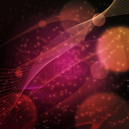 Illustration for Nice abstract cosmos vector graphic for any kind of use. - Royalty Free Image