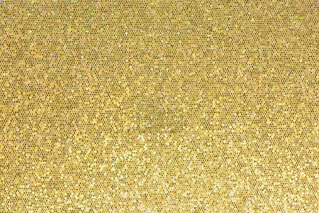 Photo for Gold sparkle glitter background. Glittering sequins wall. - Royalty Free Image