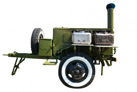 old time military mobile field kitchen