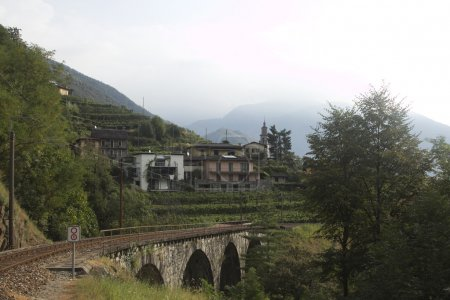 Beautiful picture of nature of Ticino region in Switzerland with
