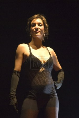 Pretty cabaret woman