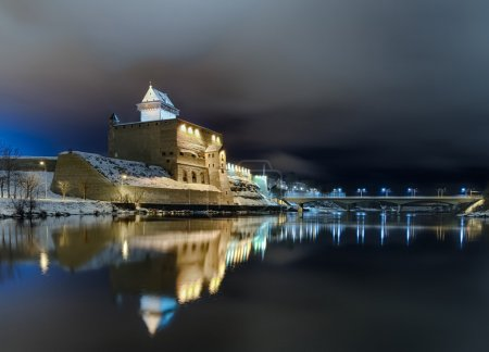 Narva - The Long Herman Castle. Night view