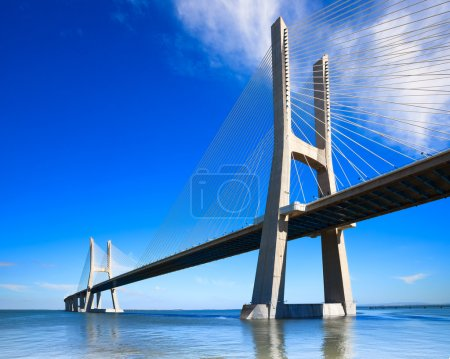 Vasco da Gama bridge, Lisbon, Portugal, Europe.