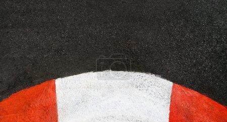 Texture of race asphalt and