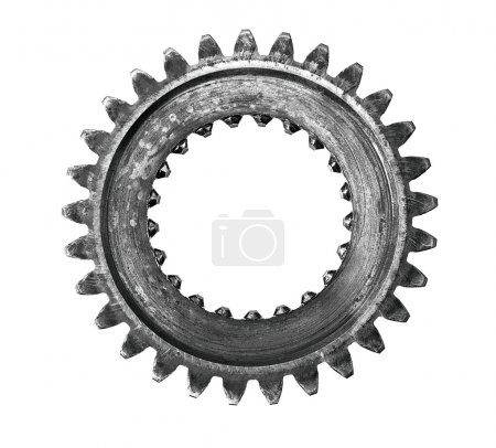 Differential gears isolated on white background...