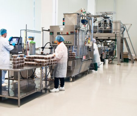 Photo pour Production d'olives délicieuses. emballage - image libre de droit