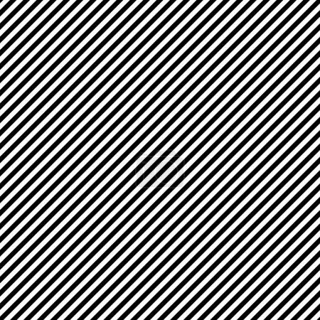 Seamless Black & White Diagonal Stripes
