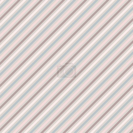 Seamless Soft Color Diagonal Stripes