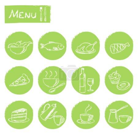 zestaw elementów menu ciągnione