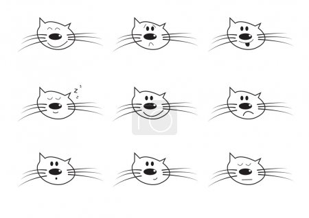 Vector icns of an cat smiling face
