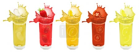 Splash fruit and berry juice