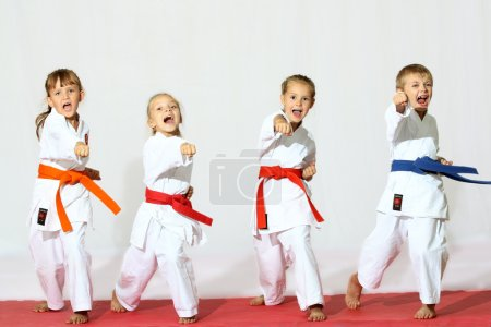 Photo for Beautiful sport karate kids - Royalty Free Image