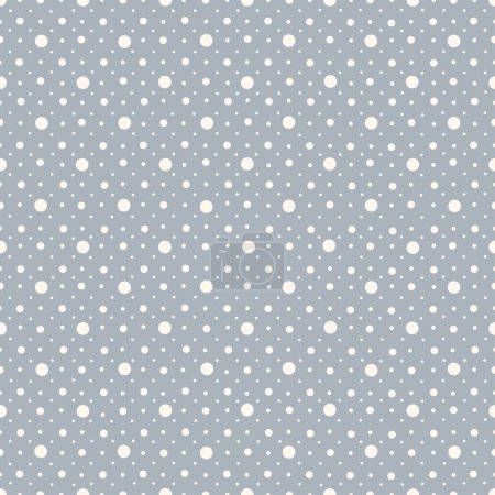 Illustration for Abstract seamless polka dot pattern on blue background - Royalty Free Image