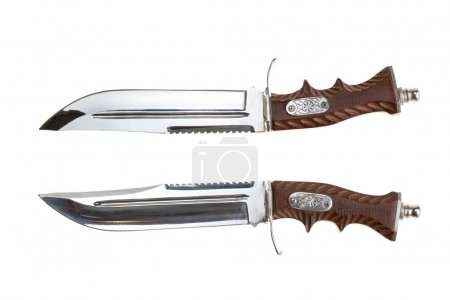 Photo for Large knife bandit. Two views. Isolated on white - Royalty Free Image